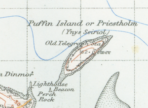 Puffin Island (Anglesey) - A map of the island from 1947