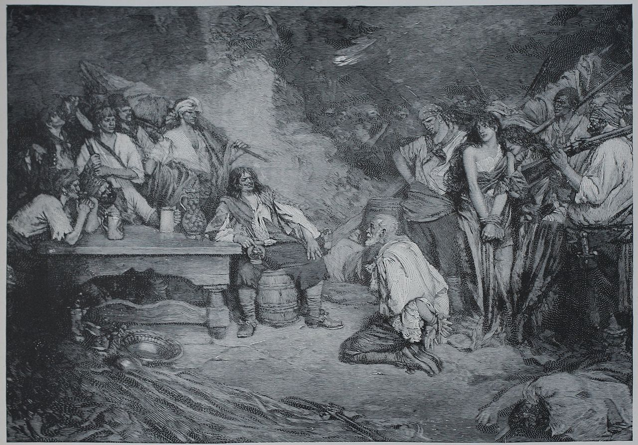 Morgan at Puerto Bello 1668 (illustration by Howard Pyle, 1888)