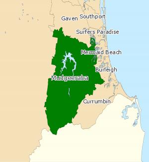Electoral district of Mudgeeraba - Electoral map of Mudgeeraba 2008