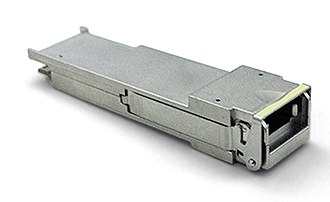 100 Gigabit Ethernet - A 40G-SR4 transceiver in the QSFP form factor