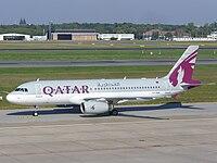 Qatar Airways A320-232 (A7-AHB) at Berlin Tegel Airport.jpg