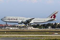 Qatar Amiri Flight Boeing 747-8KB BBJ at Ataturk.jpg