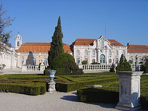 Queluz Palace gardens and ballroom wing