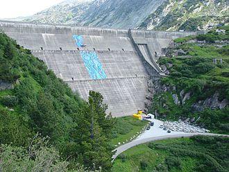 Guttannen - Lake Räterichsboden dam