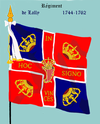 Clare's Dragoons - The flag of Lally's Regiment, Irish Brigade of France