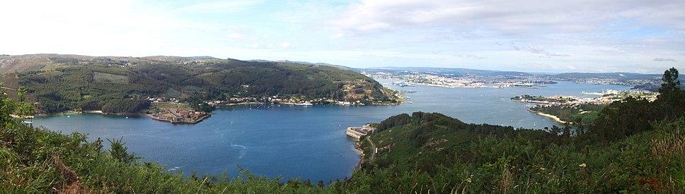Ría de Ferrol dende Mugardos