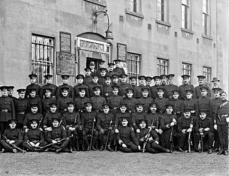 Irish War of Independence - A group of RIC officers in 1917