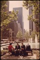 ROCKEFELLER CENTER-6TH AVENUE SIDE-A GREEN, COOL RESTING PLACE FOR PASSERSBY - NARA - 551643.tif
