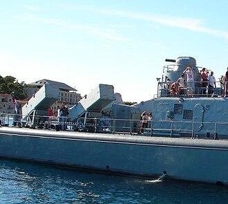 RBS-15 - Croatian missile boat Kralj Dmitar Zvonimir with RBS-15 missiles