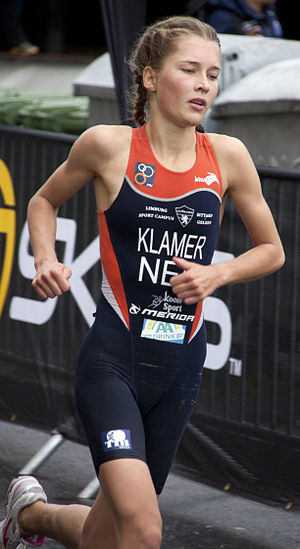 Rachel Klamer - Rachel Klamer placing fourth at the U23 World Championships in Budapest, 2010.