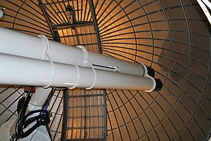Radcliffe Observatory - The Radcliffe 18/24 inch twin refractor telescope was moved to the University of London Observatory when the Radcliffe Observatory closed.