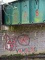 Railway bridge over the River Bure - graffiti - geograph.org.uk - 1290638.jpg