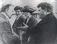 Христиан Раковский и премьер министр Болгарии Александр Стамболийский