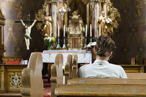 Ramsowo, kościół, modlitwa