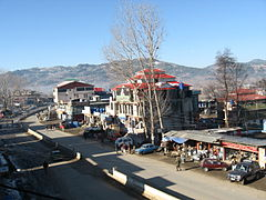 A view of Mong Road, Rawalakot