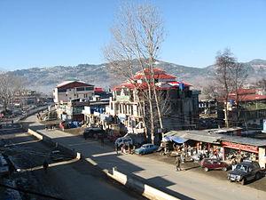 Rawalakot - A view of Mong Road