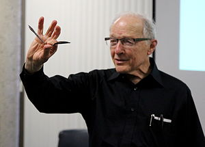 Ray Hyman - Ray Hyman demonstrates Uri Geller's spoon bending feats at CFI lecture. June 17, 2012 Costa Mesa, CA