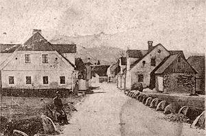 Iga Vas - 1908 postcard of Iga Vas
