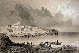 Tórshavn - Tórshavn in 1839