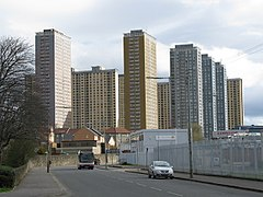 Red Road Flats, Balornock (from Petershill Road) - geograph.org.uk - 1224863.jpg