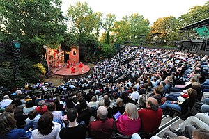 Regent's Park Open Air Theatre - Image: Regent's Park Open Air Theatre Auditorium