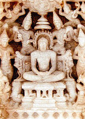 Political history of medieval Karnataka - Roof relief sculpture, Jain Panchakuta basadi at Kambadahalli.