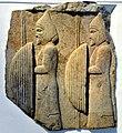 Relief of Thracian warriors, reign of Darius I, 6th-5th century BCE. from Persepolis, Iran, Pergamon Museum.jpg