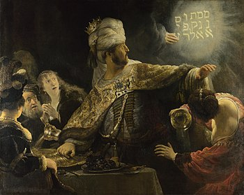 Rembrandt: The Banquet of Belshazzar