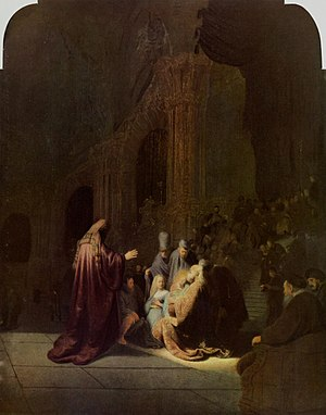 1631 in art - Rembrandt – Simeon's Song of Praise, Mauritshuis
