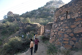 Dhosi Hill - Remnants of a fort built during medieval period by Hemu