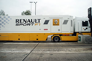 English: A Renault Sport F1 Truck on the A26 n...