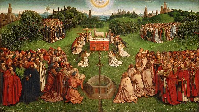 Jan van Eyck, Adoration of the Mystic Lamb - Ghent Altarpiece