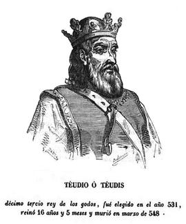 Theudis, Westgotenreich, König