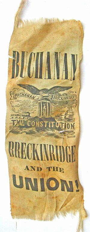 United States presidential election, 1856 - Campaign ribbon