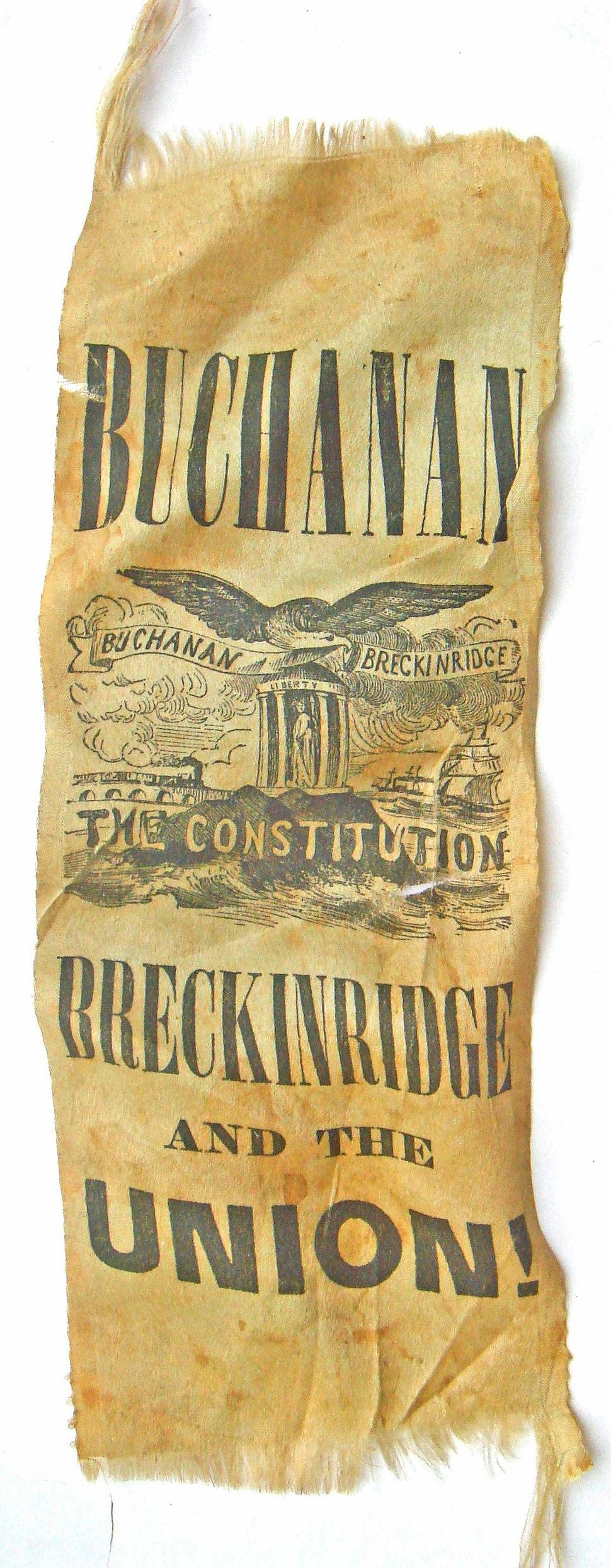 RibbonBuchananBreckenridgePrezCampaign1856
