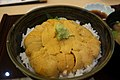 Rice bowl topped with sea urchin (9665261271).jpg