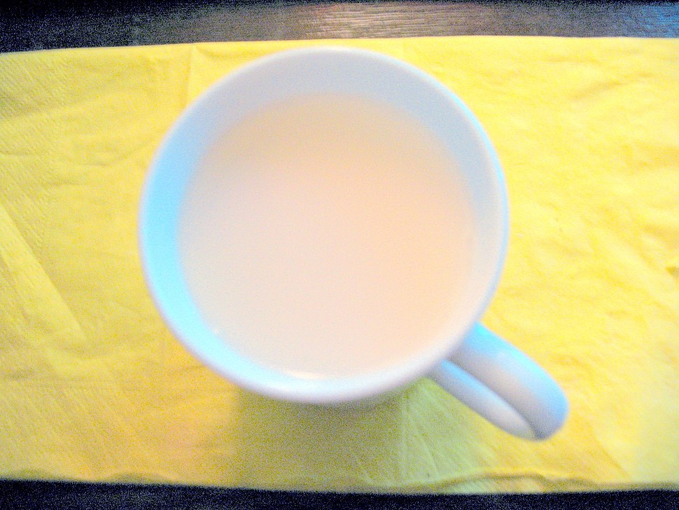 Rice milk in a cup