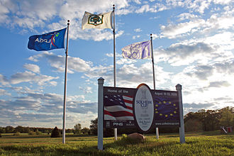Rich Harvest Farms - Solheim Cup sign in 2009