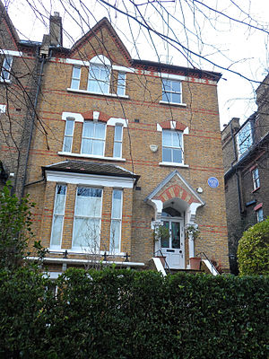 Richard Burton - Burton's house in Hampstead where he lived from 1949 to 1956