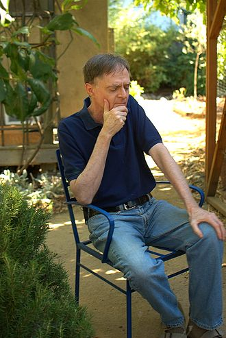 Richard Heinberg - Heinberg in his garden in Santa Rosa, California. August 2011