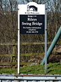 Rileys Swing Bridge, Sign - geograph.org.uk - 1738096.jpg