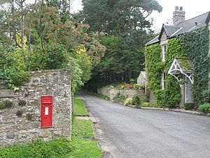 Beltingham - Image: Road through Beltingham, Northumberland Geograph 2026957