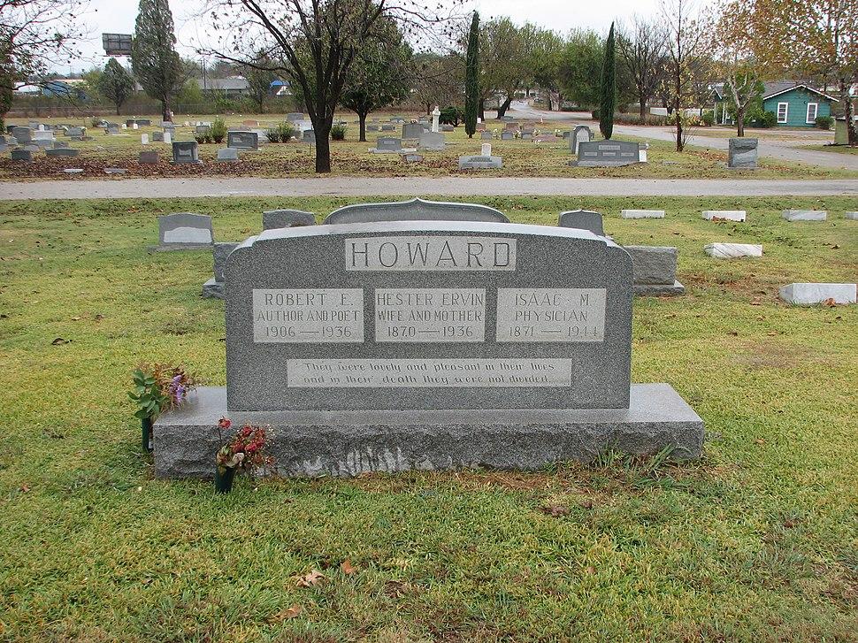 Robert E Howard family headstone