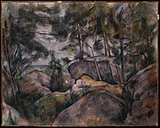 Rocks in the Forest, by Paul Cézanne, MET DT1942.jpg