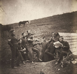 War photography - Roger Fenton was one of the first war photographers. He captured images of the Crimean War (1853–1856)