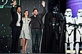 Rogue One- A Star Wars Story Japan Premiere Red Carpet- Diego Luna, Felicity Jones & Gareth Edwards (35799695495).jpg