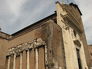 Spes - Columns from the Temple of Spes in the Forum Holitorium were incorporated into the San Nicola in Carcere church