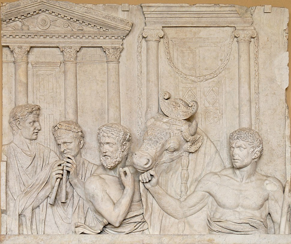 Roman sacrifice Louvre Ma992