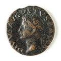 Romerskt bronsmynt med Tiberius, 16-22 - Skoklosters slott - 110687.tif