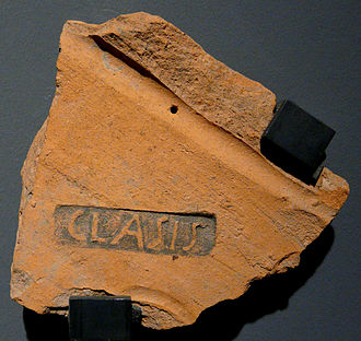 Classis Germanica - Tile with stamp CLAS(S)IS, from Novaesium, Clemens-Sels-Museum in Neuss
